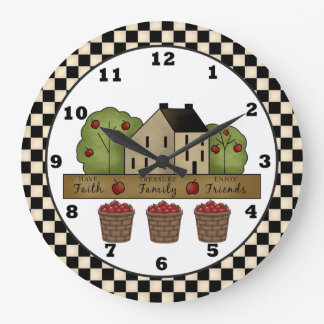 Country Inspiration Apple Wall clock