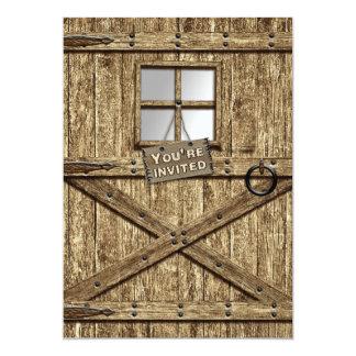 COUNTRY INVITATION - RUSTIC DOOR