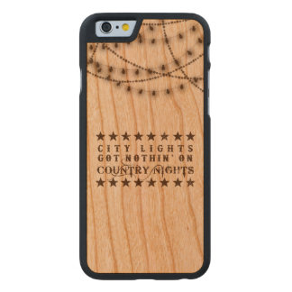 Country iPhone case on wood with lights
