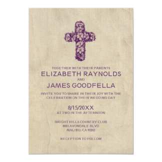 Country Iron Cross Wedding Invitations