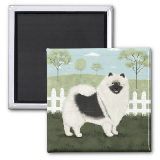 Country Keeshond Magnet
