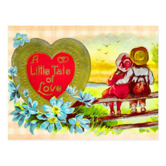 Country Kids Love Story Postcard