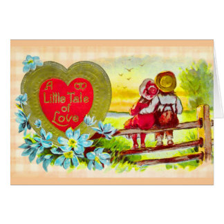 Country Kids Valentine Love Card