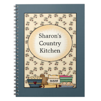 Country Kitchen Blue Notebook