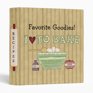 Country Kitchen Collection Baking Recipe Cookbook 3 Ring Binder
