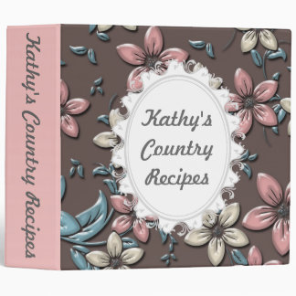 Country Kitchen Flower Recipe Binder