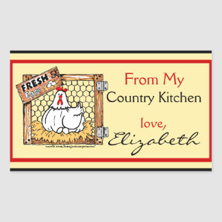 Country Kitchen Hen with Name