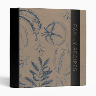 Country Kraft Paper | Family Recipe Cookbook 3 Ring Binders