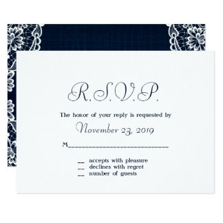 Country Lace & Denim Response Cards