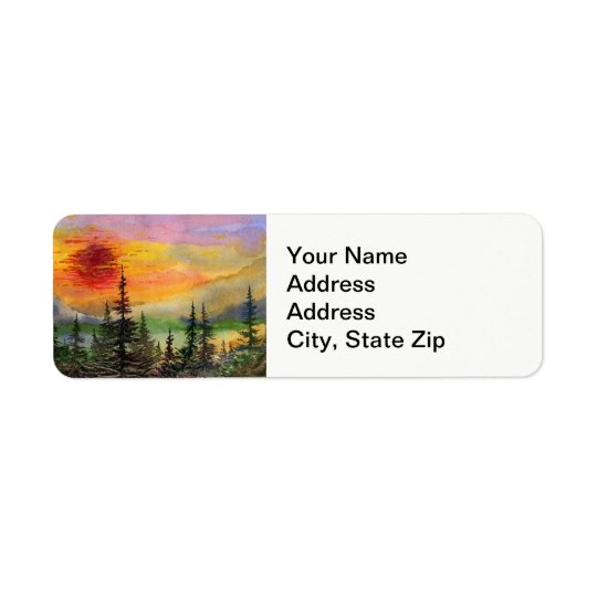 Country landscapes and scenic views sunset trees.