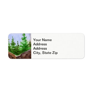 Country landscapes clear sky summer rocks pine. return address label