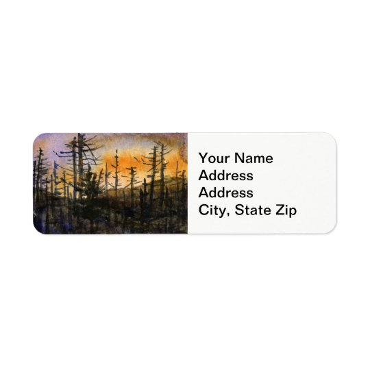 Country landscapes scenic pine scags treeline . return address label