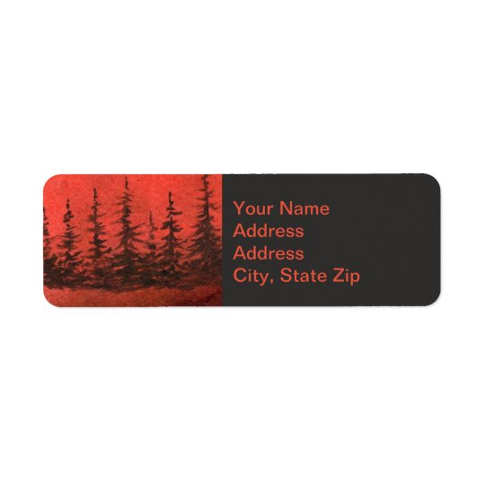 Country landscapes sunrise sunset red sky pine.