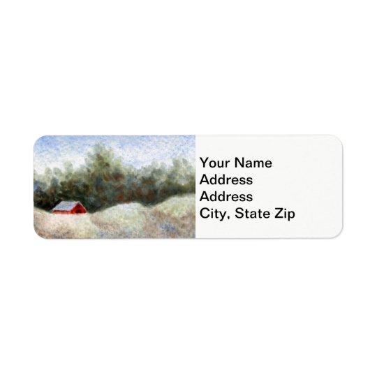 Country landscapes woodland fields barn shed . return address label