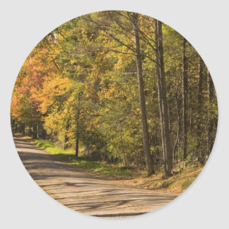 Country Lane Classic Round Sticker