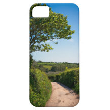Country lane in Cornwall England iPhone 5 Case