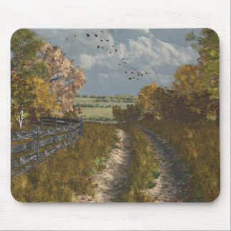 Country Lane in Fall Mouse Pad