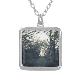 Country lane silver plated necklace