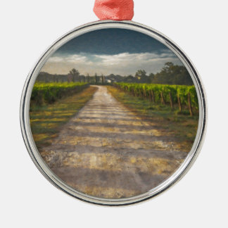 Country Lane Tuscany Itl4015 Silver-Colored Round Ornament