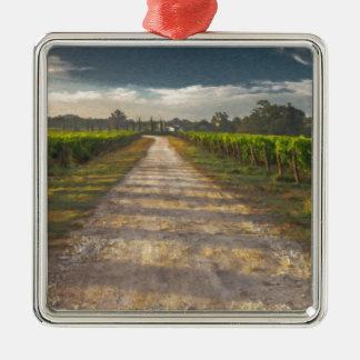 Country Lane Tuscany Itl4015 Silver-Colored Square Ornament