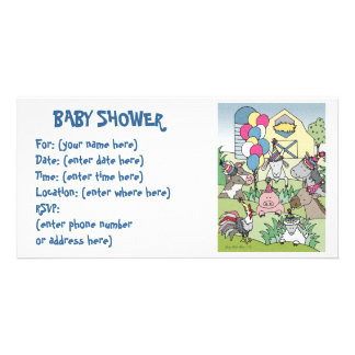Country Life 20 Baby Shower Customized Photo Card