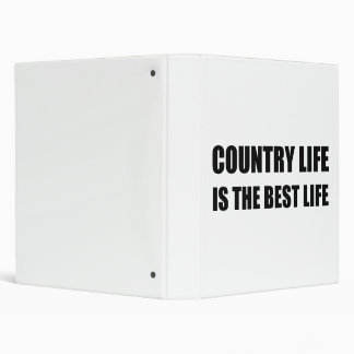 Country Life Best Life 3 Ring Binders
