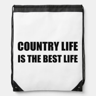 Country Life Best Life Drawstring Bag