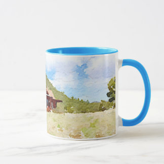 Country Life Cabins Watercolor Mug