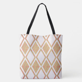 Country Life-Fabric-Floral-Diamond's-TOTES Tote Bag