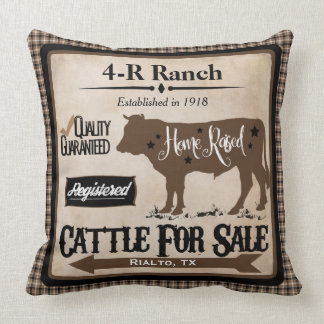 Country Life Ranch-Style Personalized Pillow