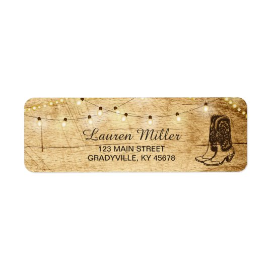 Country Lights small address label with boots