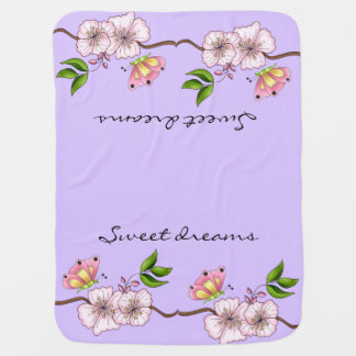 Country Lilac Sweet Dreams Baby Blanket
