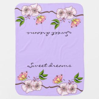 Country Lilac Sweet Dreams Receiving Blanket