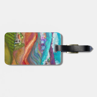 Country Living collage luggage tag