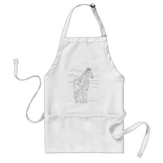 Country Living Horse Standard Apron