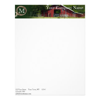 Country Living Lasso Monogram Letterhead Template