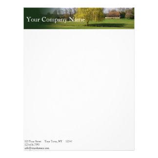 Country Living Meadow Header Letterhead Design