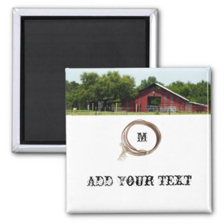 Country Living Red Barn Lasso Magnet