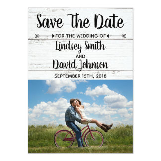 Country Love Western Rustic Save The Date Card