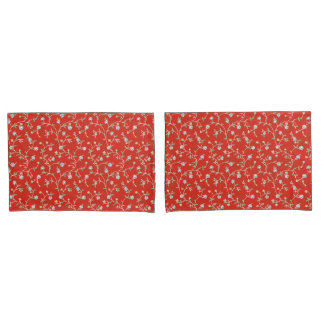 Country Manor Pillowcases (Coral)