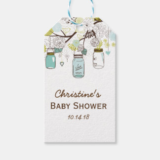 Country Mason Jar Bridal Shower Favor Gift Tags Pack Of Gift Tags