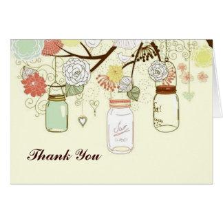 Country Mason Jar Thank You Card