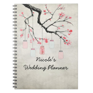 Country Mason Jars Wedding Planner Notebooks