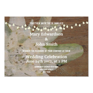 Country Mountain Wedding Edelweiss invitation