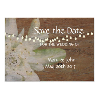 Country Mountain Wedding Edelweiss Save the Date Card