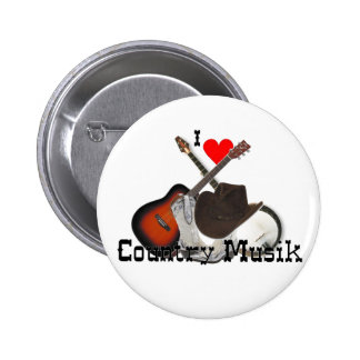 country music 2 inch round button