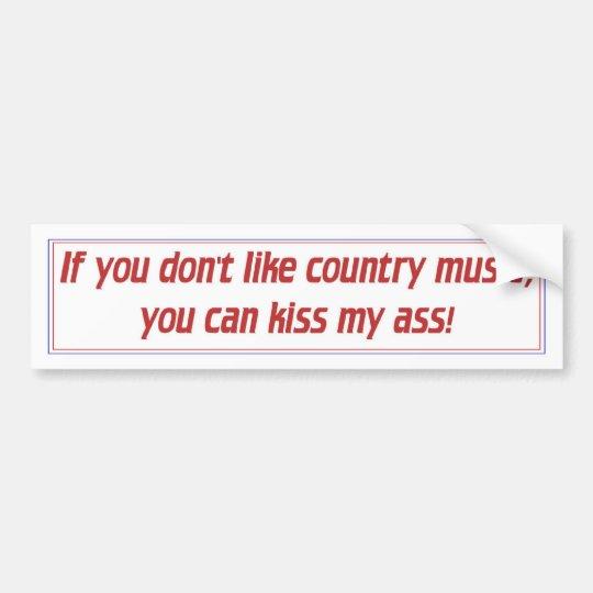 Country Music Bumper Sticker