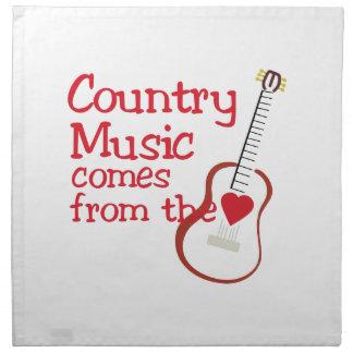 Country Music Cloth Napkin