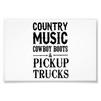 Country Music, Cowboy Boots & Pickup Trucks Photo Art