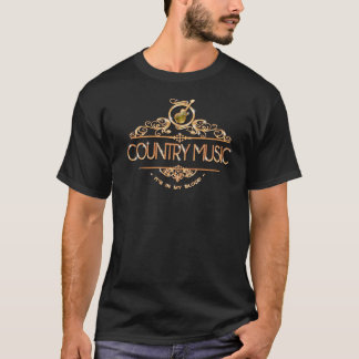 Country Music Lover Cool Unique Gold T-Shirt